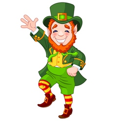 Lucky Dancing Leprechaun vector