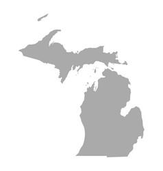map michigan vector image