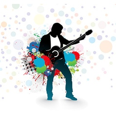 men play a guitar vector image