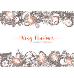 merry christmas holiday background vector image