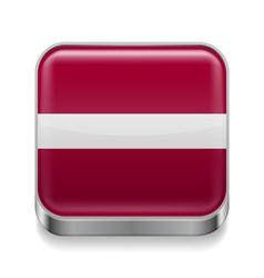 Metal icon of Latvia vector