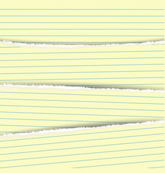 Multi-layered torn white paper vector