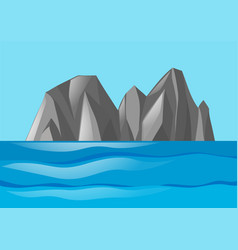 nature scene with mountains and ocean vector image