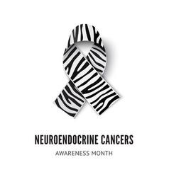 Neuroendocrine cancer awareness ribbon vector