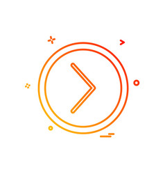 next icon design vector image