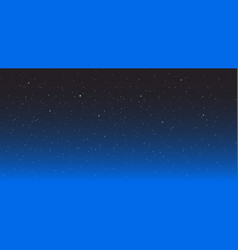Night star background starry sky dark-blue space vector