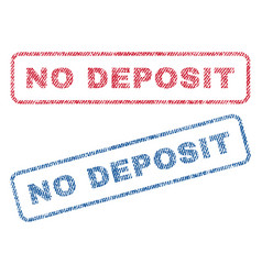 No deposit textile stamps vector
