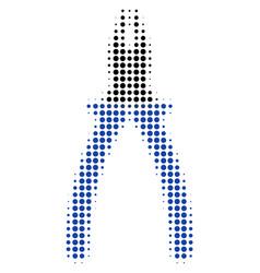 pliers halftone icon vector image
