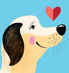 portrait dog lover vector image