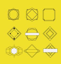 Retro vintage insignias sketch set in monochrome vector