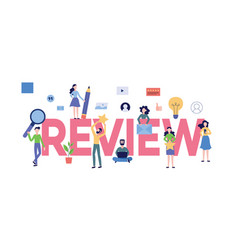 review text with customers giving online feedback vector image