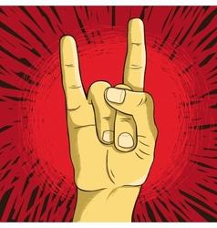 rock n roll symbol - human hand - gesture vector image