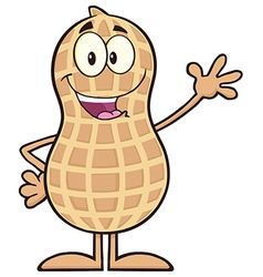 Royalty Free RF Clipart Happy Peanut Cartoon vector
