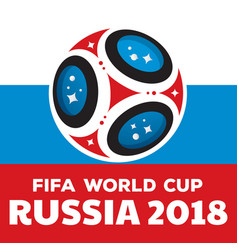 Russia world cup 2018 with flag vector