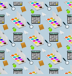 school supplies stationery educational eamless vector image
