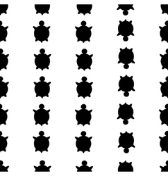seamless turtle pattern vector image
