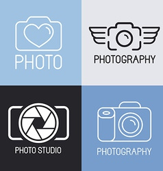 set of photography logos vector image