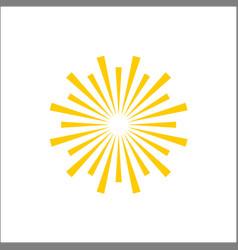 simple line art lighting sun symbol vector image