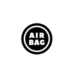 Steering airbag flat icon vector
