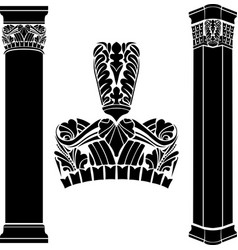 stylized ancient medieval columns vector image