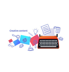 Successful innovation creative content concept new vector