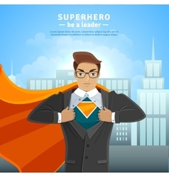 Super hero businessman concept vector