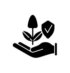 Sustainable agriculture black glyph icon vector