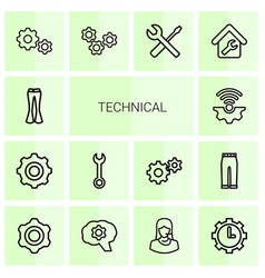 Technical icons vector