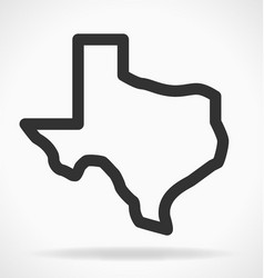 Texas tx state map outline simplified vector