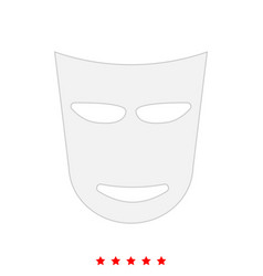 theater mask it is icon vector image