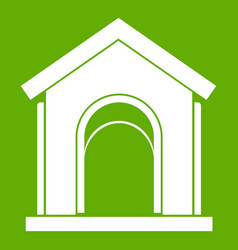 toy house icon green vector image
