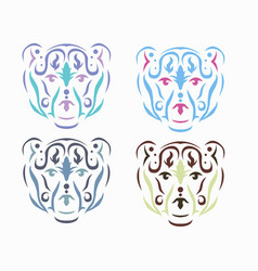 tribal polar bear vector image