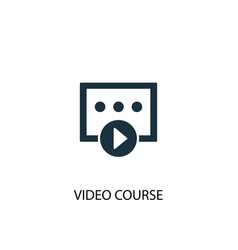 Video course icon simple element vector