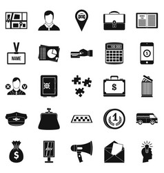 workweek icons set simple style vector image vector image