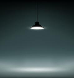 Background illuminated lamp vector
