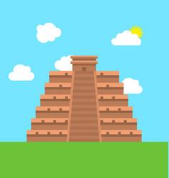 mexico chichen itza tulum kukulcan pyramid vector image