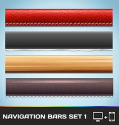 Navigation Bars For Web And Mobile Set1 vector image