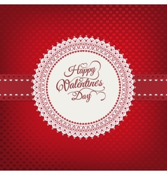 Valentines day vintage card EPS 10 vector image vector image