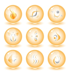 abstract internet icons vector image
