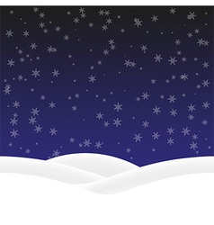 Background winter vector image