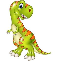 Cartoon funny tyrannosaurus isolated vector image