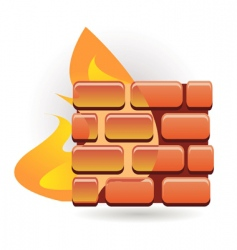 firewall vector image vector image