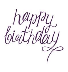 happy birthdays calligraphy phrase handwritten vector image
