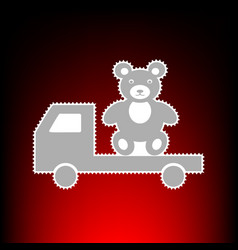 truck with bear style vector image
