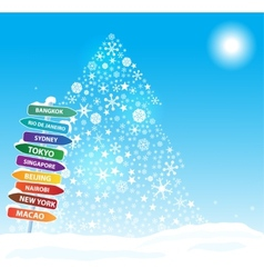 Christmas exotic trip Eps10 vector image vector image