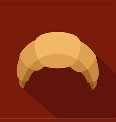 croissant icon flat style vector image vector image