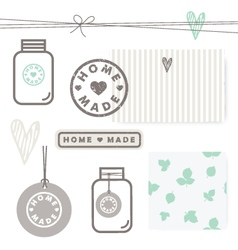 Homemade design elements vector image vector image