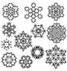 set of vintage snowflakes for your winter vector image vector image