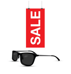 sunglasses sale sign vector image vector image