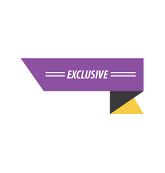 design ribbon exclusive purple yellow black vector image vector image